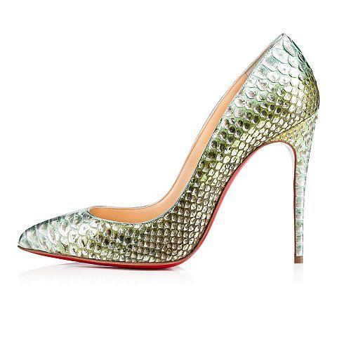 Pigalle follies python 100 OPALINE Python - Women Shoes - Christian Louboutin