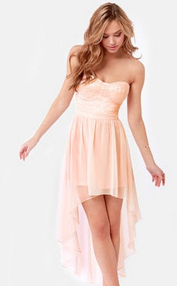 light pink high low dress | Beautiful Dresses | Pinterest ...
