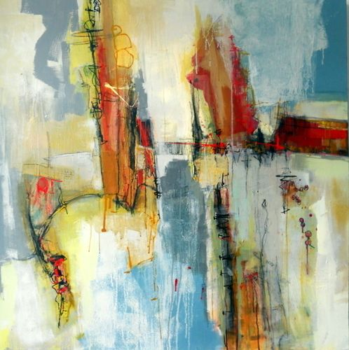 """Contemporary Painting - """"Another Crossing"""" (Original Art from Janet Wayte)"""