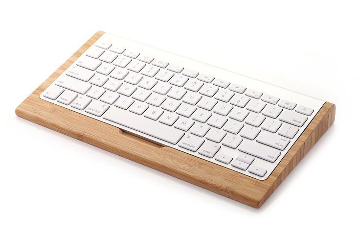 Amazon.co.jp: JAPAN AVE. 木 製 Apple ワイヤレス キーボード 専用 スタンド / 便利な 収納 付 キーボード ホルダー / iMac Mac Pro デスクトップ パソコン コンピュータ PC Bluetooth Wireless トレイ: パソコン・周辺機器