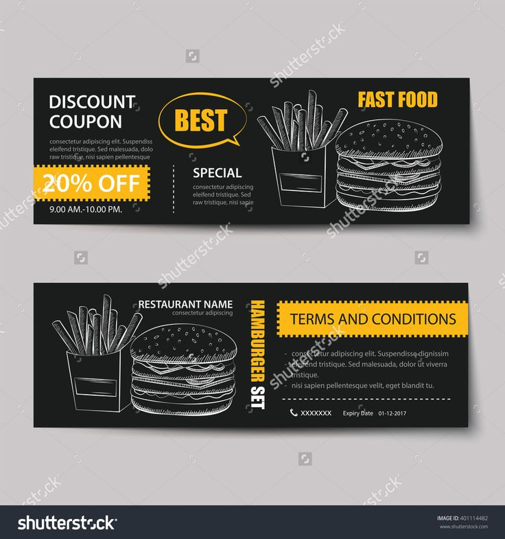 Discount Coupons Templates Gift Discount Voucher Mock Up, Discount - discount coupons templates