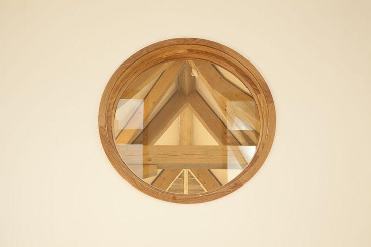 Oak framed detail - Aldenham School