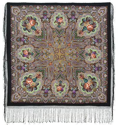 СКАЗКА 390 Шаль из уплотненной шерстяной ткани 148х148 390-18