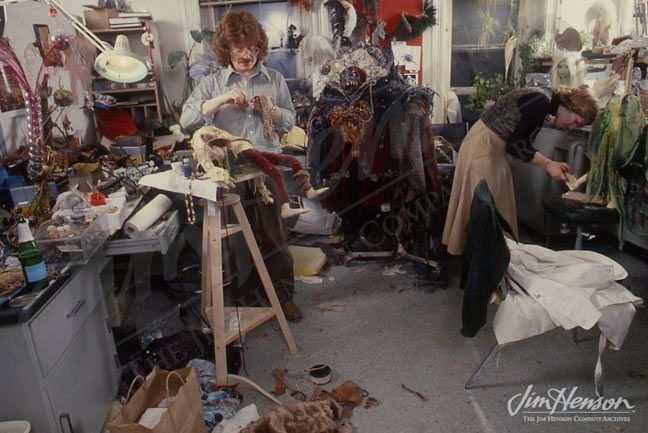 Brian and Wendy Froud work on Dark Crystal
