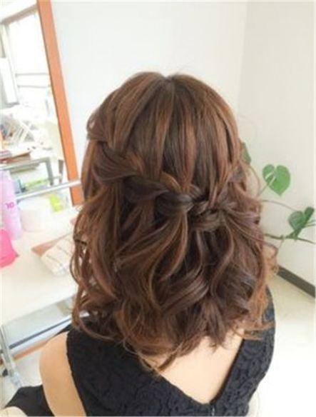 Wedding hairstyles updo for short hair bridesmaid simple 66+ Ideas