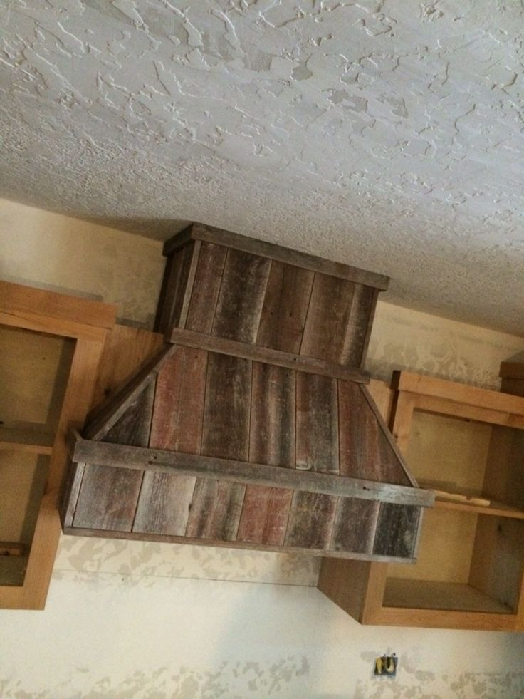 Reclaimed Barn Wood Vent Hood Upcycled Pinterest
