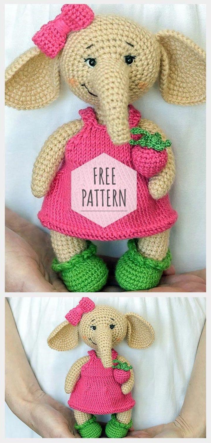 Free Pattern Amigurumi Elephant | Crochet-Amigurumi