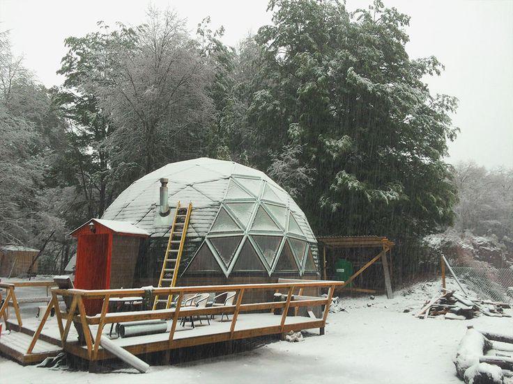 Domo geodesico house snow