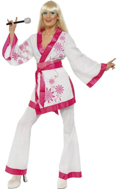 ABBA Mini Kimono Adult Fancy Dress Costume [BQ033348] : Karnival Costumes