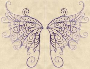 Delicate Wings (Wing Pair)_image.  I bet this would be beautiful in Royal Icing or white Chocolate
