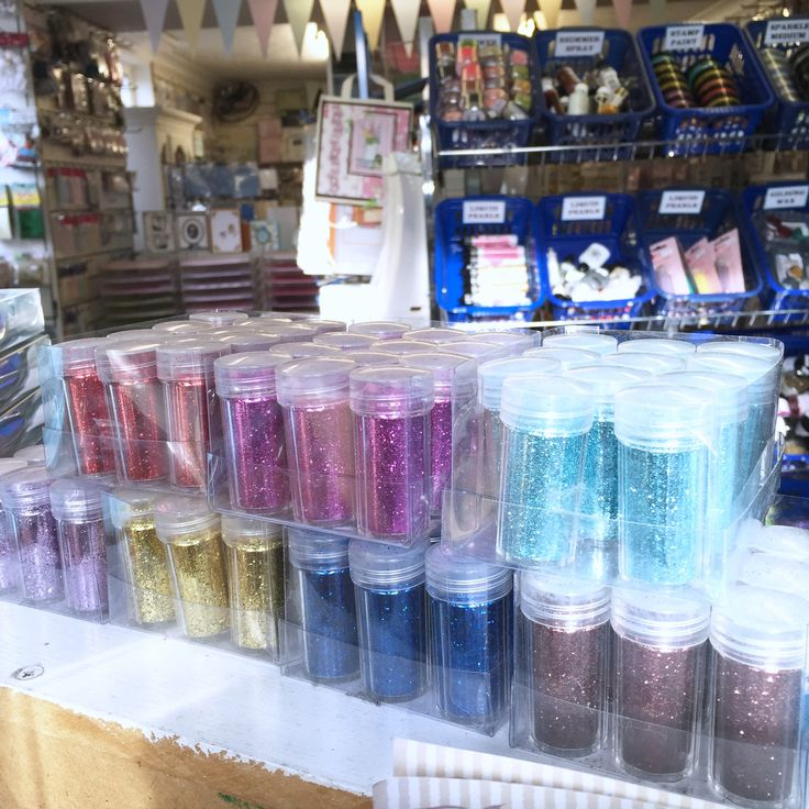 Pots of glitter only 75p at blyth craft studio!