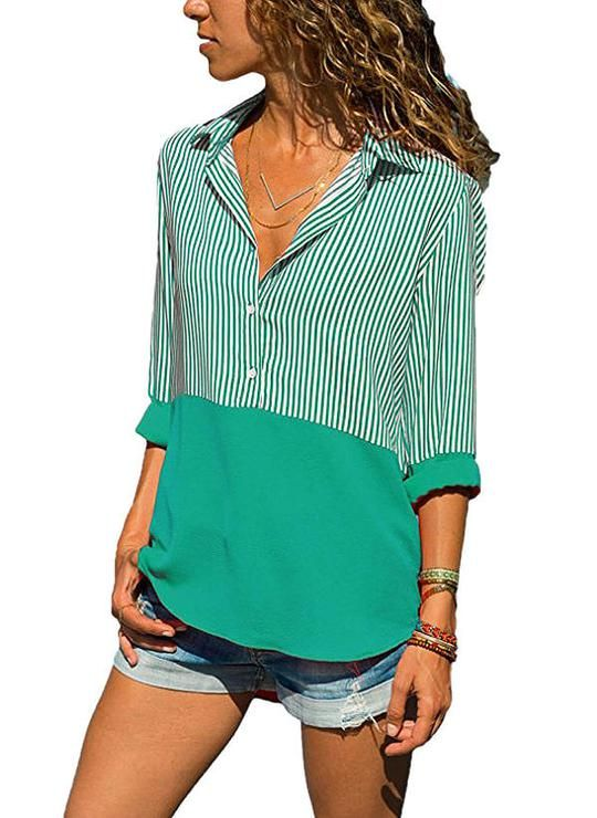 71daf9069c9c4 Lalasgal Flash Deal Plus Size Clothing For You Collar Shirts