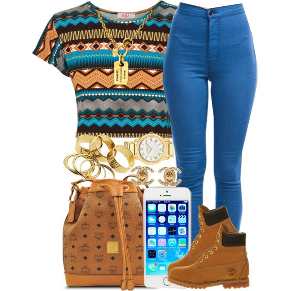"""Brown Aztec."" by livelifefreelyy on Polyvore"
