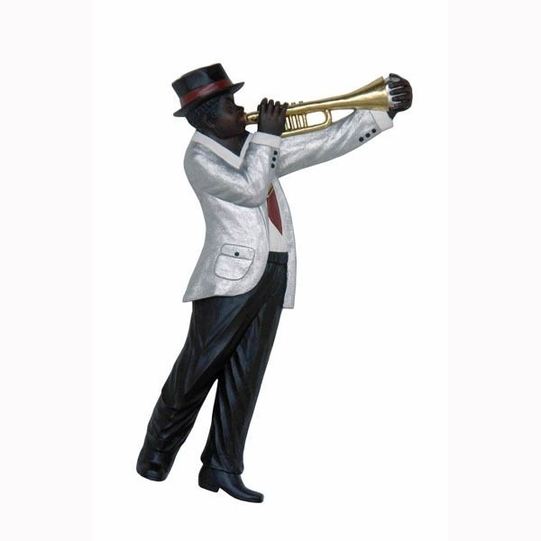 Jazz Band Trumpet Player Wall Decor  #decor #november #props #lifesizestatue #fontana #lifesizestatues #statues #homedecor #yarddecor #lmtreasures