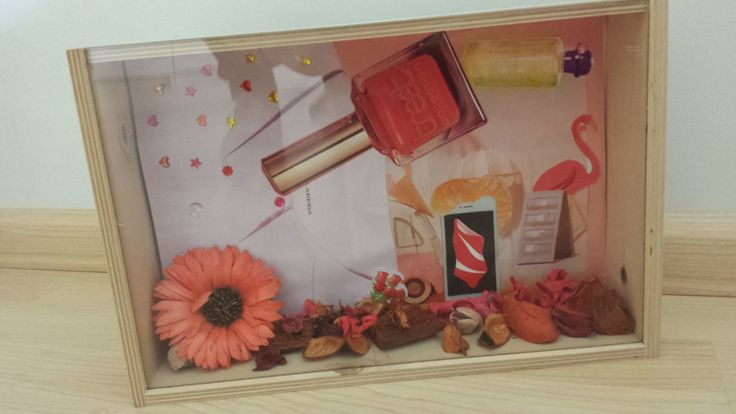 een sfeerbox met als hoofdkleur roze