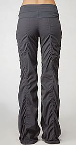 So comfortable...love working out and traveling in these!!  Lululemon pants