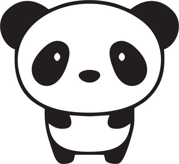 Cute Baby Panda Custom Made Self Adhesive by ajcustomvinyldecals, $2.00