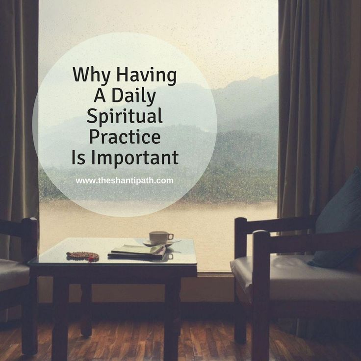 Having a daily spiritual practice goes beyond selfcare