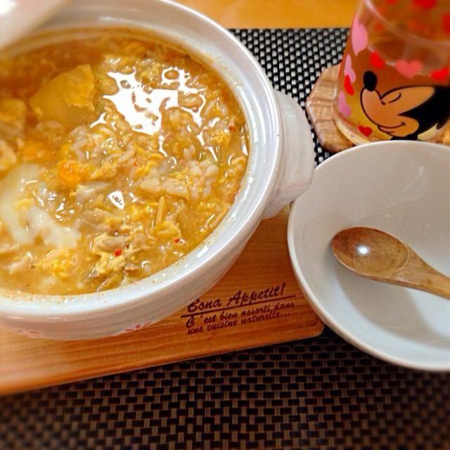キムチ雑炊 - 3件のもぐもぐ - キムチ雑炊 by yun