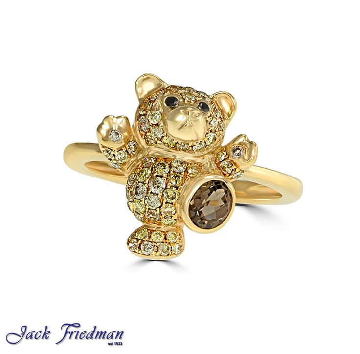 Teddybear with champagne diamonds jackfriedman.co.za