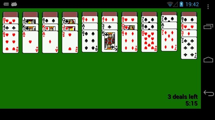 Play Solitaire, Freecell, Spider or FortyThieves for FREE. All in one App. This version of solitaire needs very little space on your android device.<br><br>Features:<br>- 4 Variations of Solitair<br>- simple user interface<br>- all games are autosaved<br>- fullscreenmode<br>- little filesize<br>- etc..<br><br><br><br>keywords: solitair, solitär, freecell, spider, card game, appme, shizzwizzle, kreuzeder, easy game, fun, solitaire, kartenspiel<br><br>Content rating: Everyone