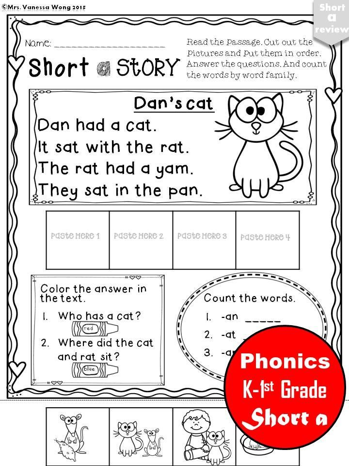 Short A Phonics Set Kindergarten Reading, Phonics Activities, Phonics  Kindergarten