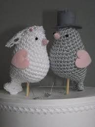 cadeau haken in de vorm van een bruid en bruidegom tortelduif.