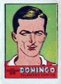 Domingo. Atlético de Madrid. 1941-42. Cromos Bruguera. Delantero centro titular.
