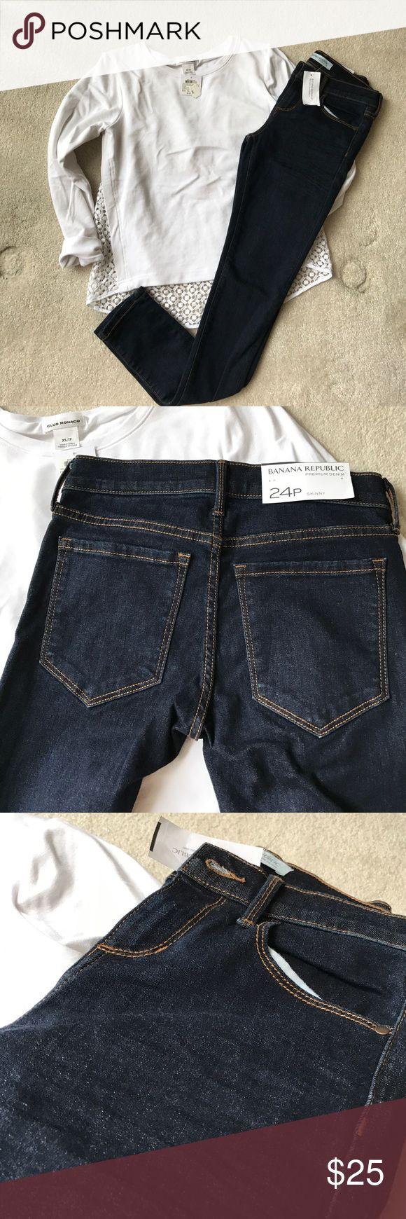 Banana Republic Skinny Jeans Dark Blue Petite Skinny Jeans Banana Republic Jeans Skinny