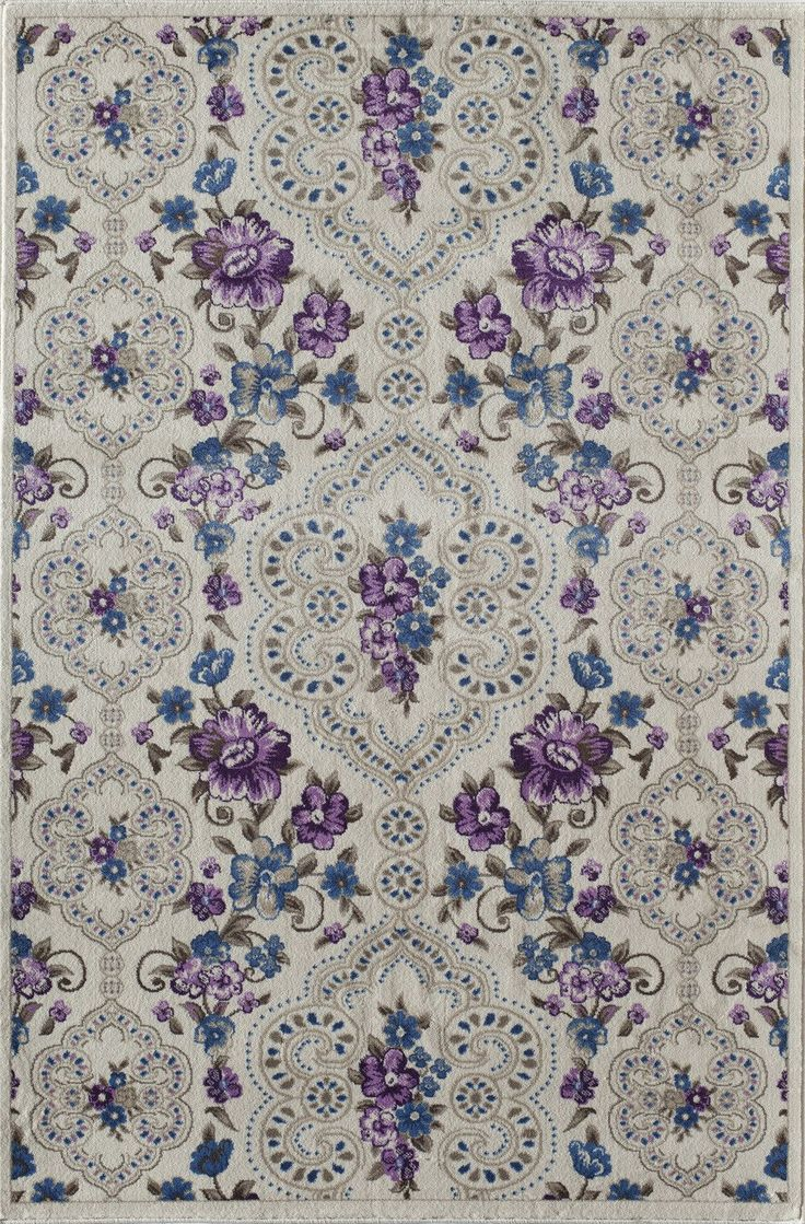Nkhotakota White/Purple Area Rug