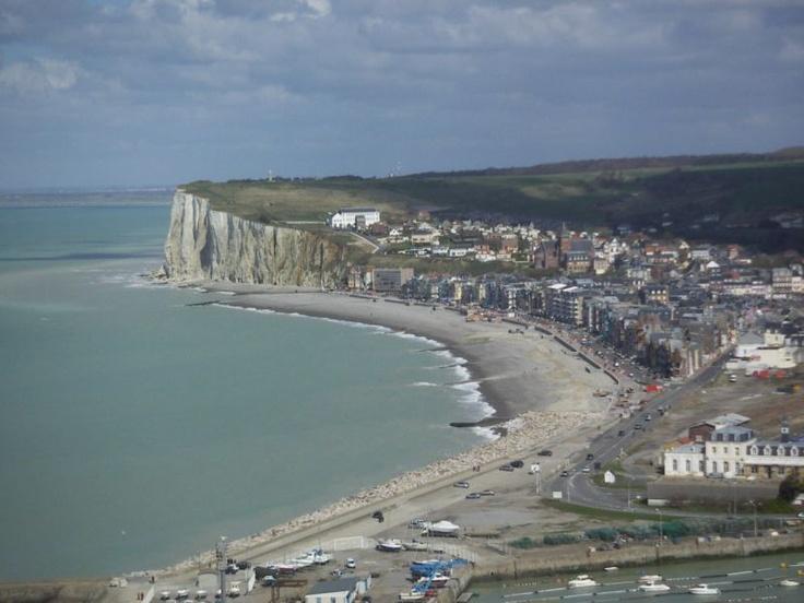 ••▷ Photo : Vue d'ensemble de la plage, de Mers les bains - Mers-les-Bains