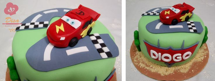 Lightning McQueen cake, Cars, red, two, victory