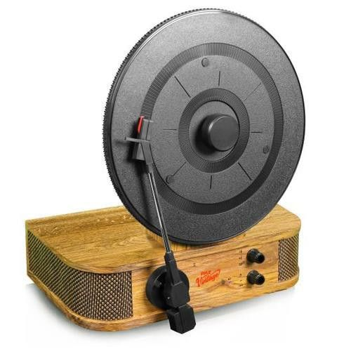 Vintage Style Bluetooth Turntable - Classic Vertical/Standing Record Player Speaker System