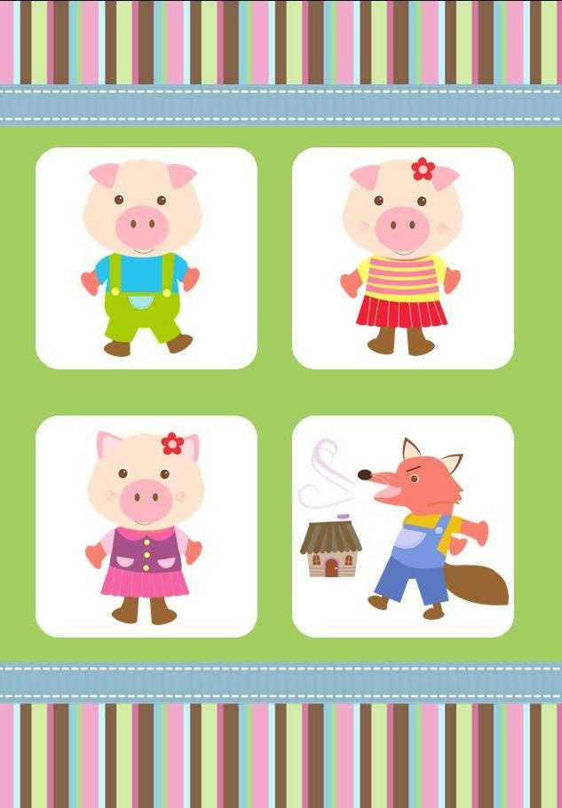 Three Little Pigs storybook greeting card available from www ...: pinterest.com/pin/268245721527806031