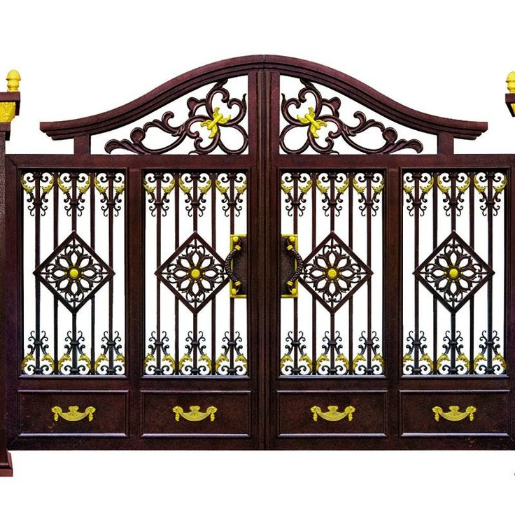 puertas de jardn de hierro fundido decorativo de aluminio