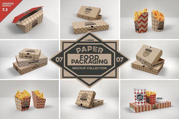 Download Vol 7 Food Box Packaging Mockups In 2020 Food Box Packaging Packaging Mockup Free Packaging Mockup