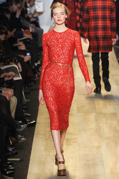 The Kate Middleton effect continues on the runways, this time — instead of spring's hyper-ladylike vibe — in the form of understatedly elegant sheath dresses. Curve-hugging yet demure, these would make smashing companions to a pair of pantyhose and L.K. Bennett pumps.   Michael Kors