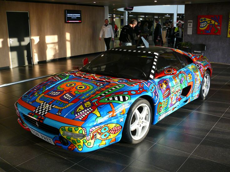 Ferrari 355 TS  Ton Pret, art car (by H.-P. Wilhelmus)