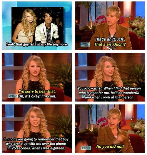 I love ellen...her reaction is the best. honestly. That would be mine too