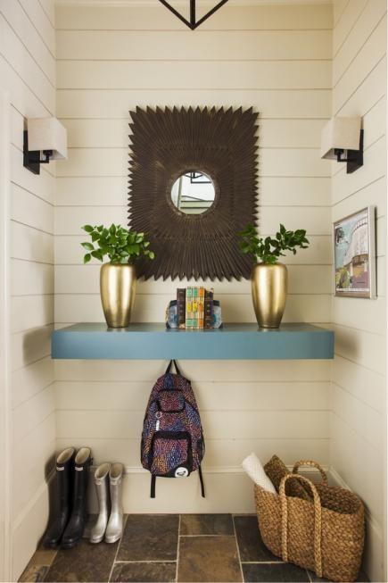 Mudroom Hidden Shoe Storage