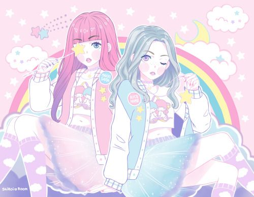 """amaitohiko: """" shiroiroom drew me & maidosama!! It is honestly so beautiful, we can't stop starring at it. It's so perfect, I love it so much. She draws so perfectly and she conveys whatever you want! She's such a sweet person. I think you should..."""