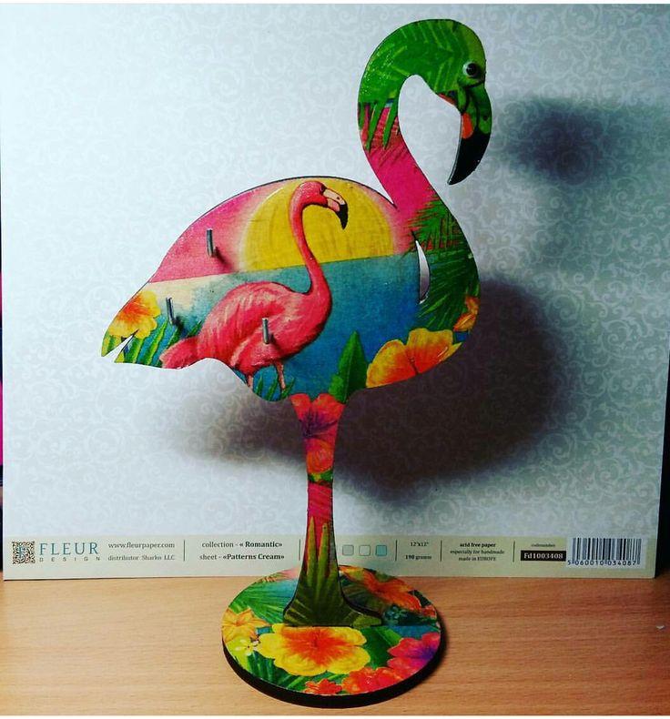 #фламинго#вешалка_для_украшений#декупаж#