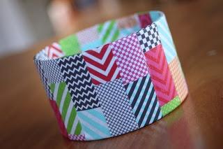 delicateCONSTRUCTION: Upcycled Washi Tape Bracelets {Trash to Treasure}