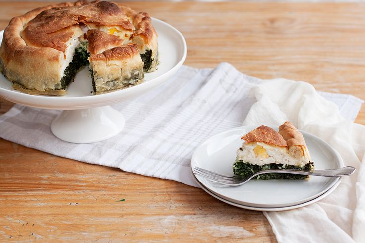 Torta Pasqualina, or #Easter Pie, is made with the Easter season's best offerings: fresh herbs, green vegetables and plenty of eggs.