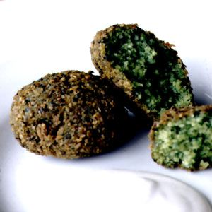 twist on the more traditional chickpea falafel, made with fava beans