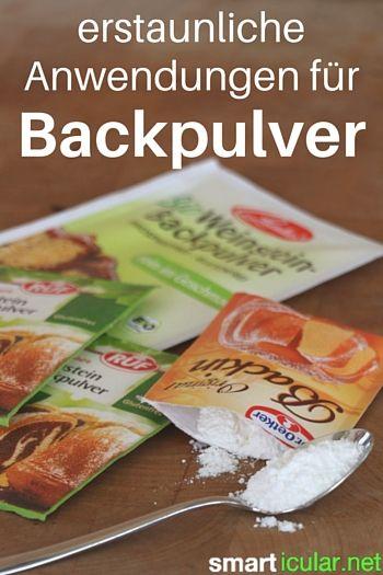 Backpulver ist nicht nur zum Backen gut, es gibt auch viele überraschende aber…