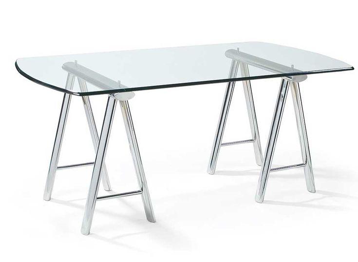 home office small glass desk design