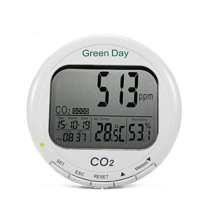 AZ7788 3 in 1 CO2 Carbon Dioxide Desktop Data Logger Monitor Indoor Air Quality Temperature Relative Humidity RH 0~9999ppm Tester Clock Date Display