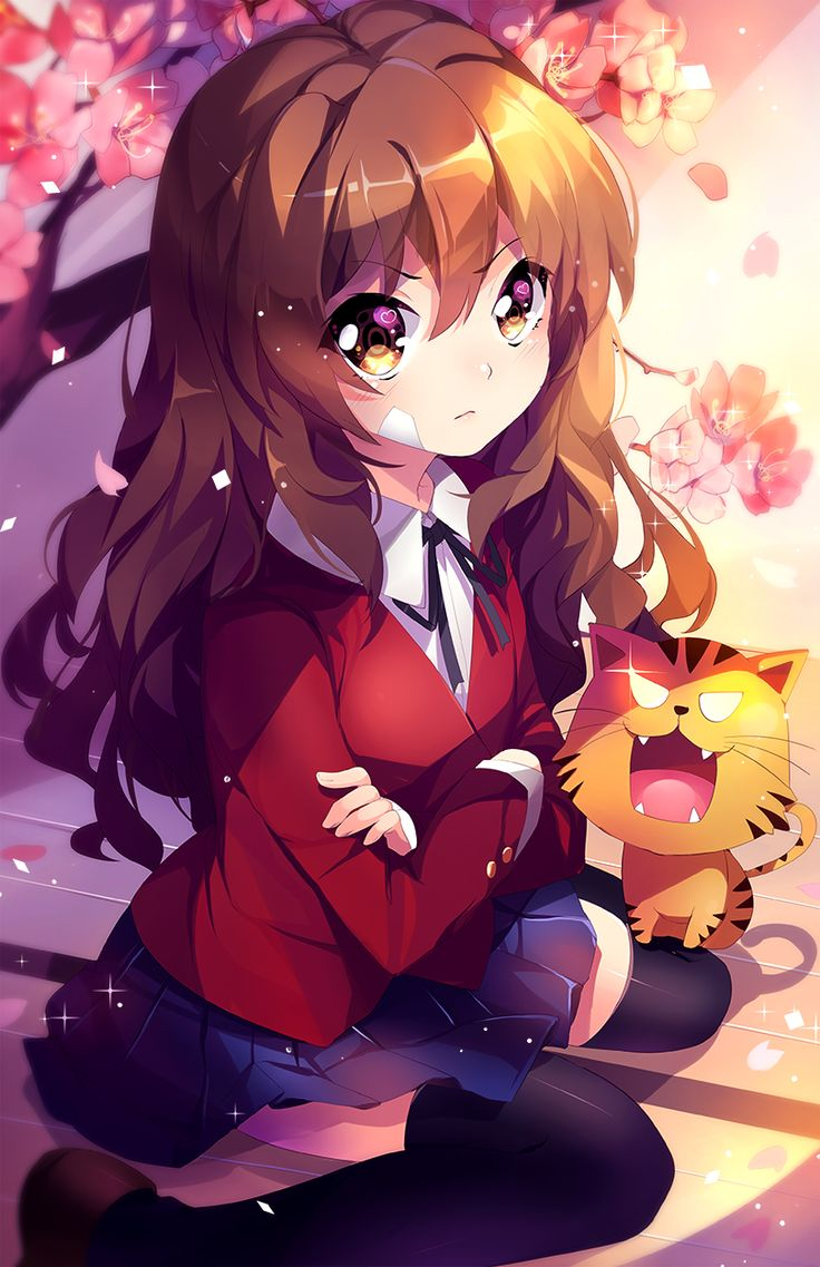 The little hearts in her eyes let you know she's actually in 'dere mode' [Toradora]