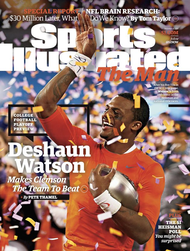 Clemson quarterbackDeshaunWatson is featured on the College Football Playoff preview issue ofSports Illustrated.